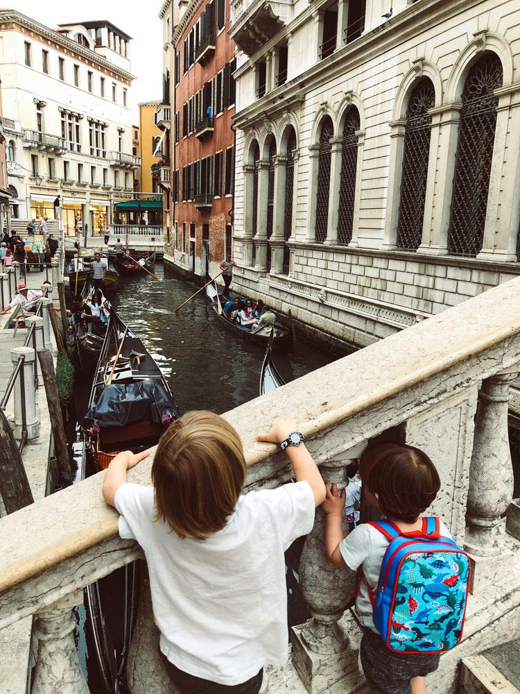 Final de semana em Veneza com crianças